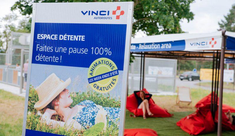 La RFE met en place une opération de Trip Marketing pour les usagers des autoroutes Vinci en organisant des espaces détente sur les aires de repos