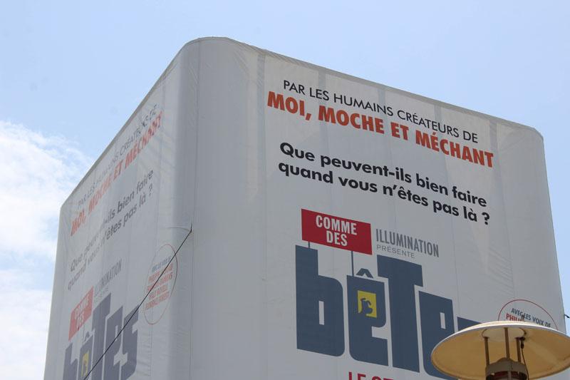 """La RFE met en place une opération de Trip Marketing pour le film """"comme des bêtes"""" grâce à un Totem Geant sur les autoroutes vinci"""